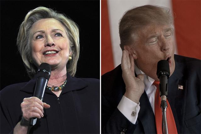 Хилари Клинтон и Дональд Трамп.