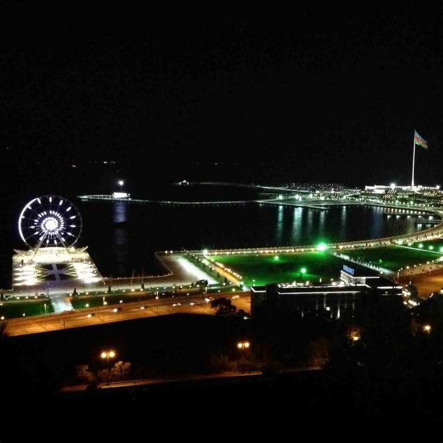 Существует предположение, что слово «Баку» произошло от персидского бад кубе — обдуваемый ветром.