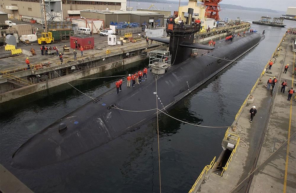 Подводная лодка класса «Огайо», США.