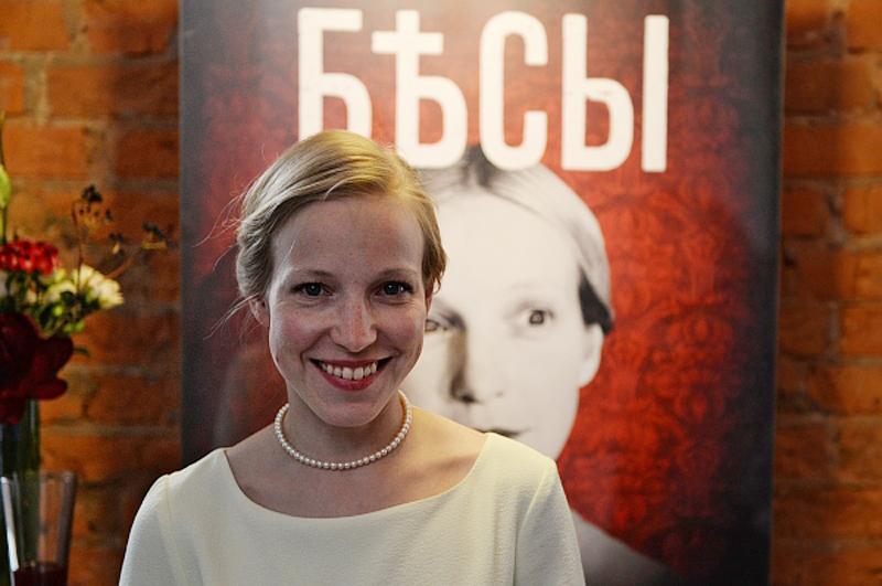Мария Шалаева во время закрытой премьеры первых серий телевизионного фильма Владимира Хотиненко Бесы