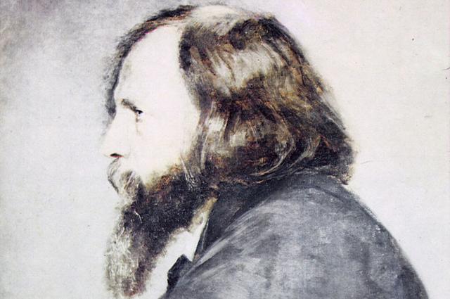 А.И. Менделеева. Портрет Д.И. Менделеева. 1885. Не закончен.