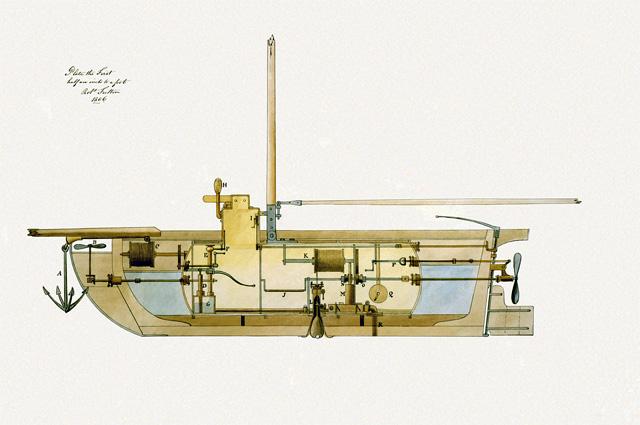 Проект субмарины Фултона, 1806 год