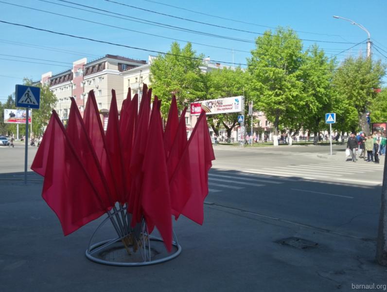 Флаги украсят город ко Дню Победы