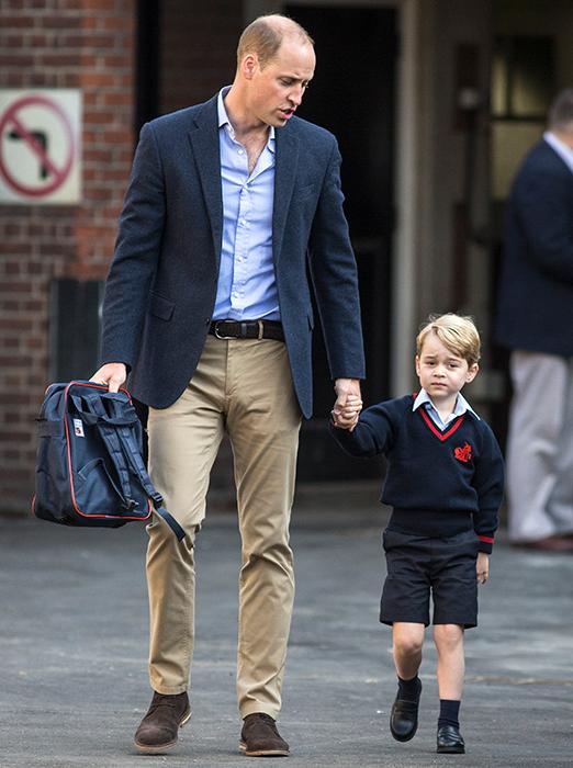 4-летнего наследника английского престола принца Джорджа отдали в школу, где запрещены гаджеты.