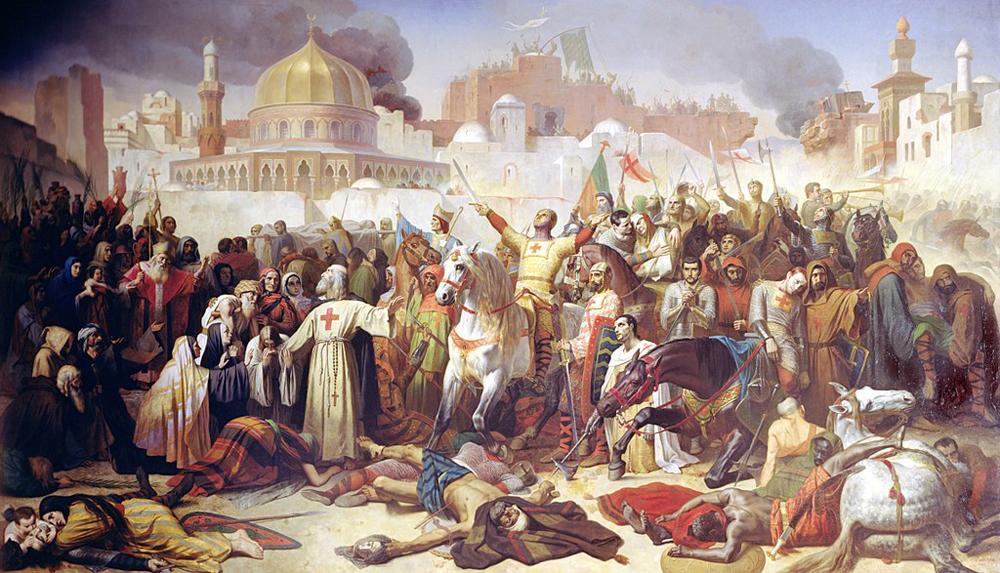 Эмиль Сигнол. Завоевание Иерусалима крестоносцами, 15 июля 1099. 1847 год.