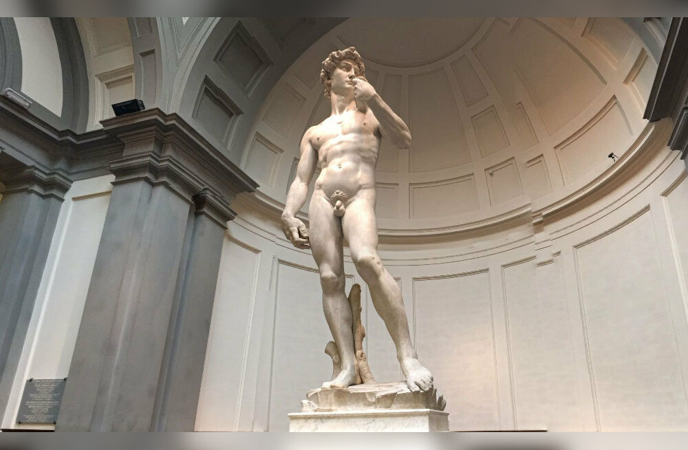 Микеланджело. Статуя библейского царя Давида.