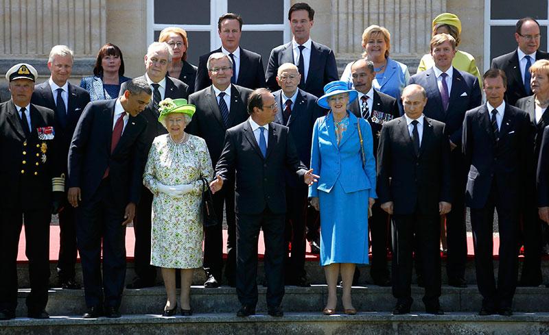 Церемония фотографирования участников торжеств по случаю 70-летия начала операции Оверлорд