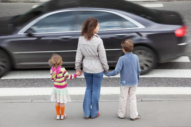 пешеход, ребенок, дорога, машина