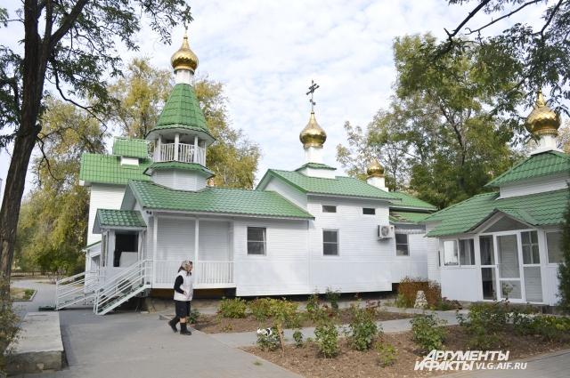 Часовня в Комсомольском саду.