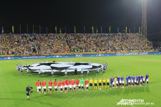 Гимн и флаг Лиги Чемпионов прописались в Ростове минимум до поздней осени.