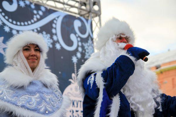 Дед Мороз в Иркутске.