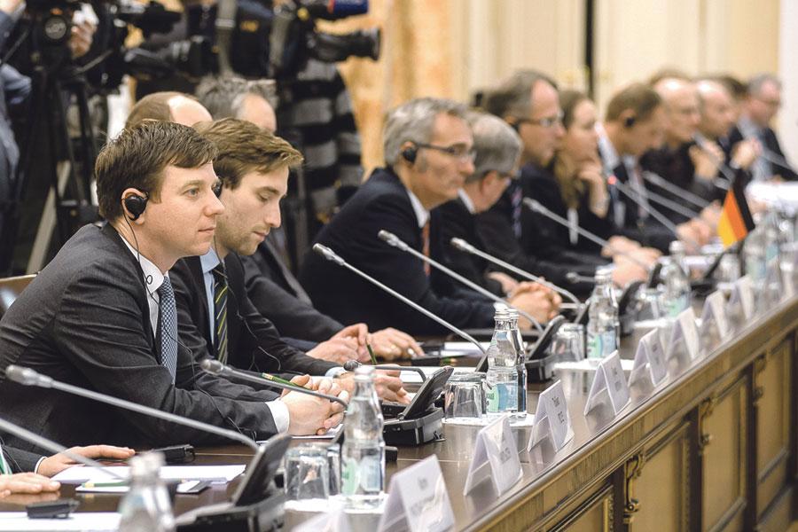 На встрече с делегацией федеральной земли Шлезвиг-Гольштейн речь шла о развитии партнёрства по разным направлениям.