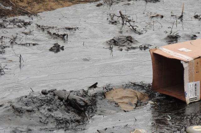 Разлив нефти.