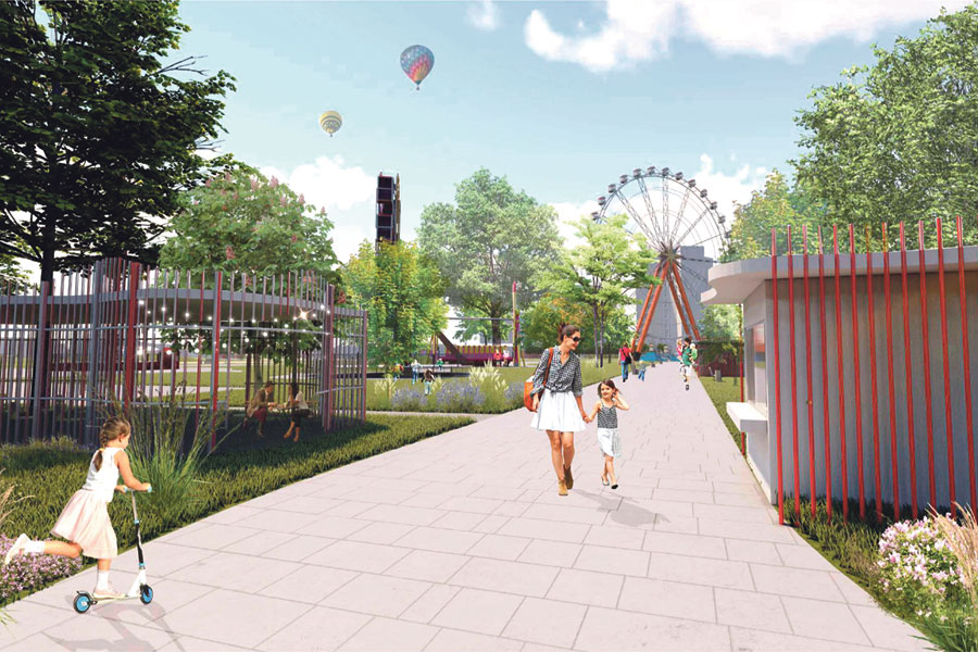 Новое колесо обозрения станет доминантой парка.