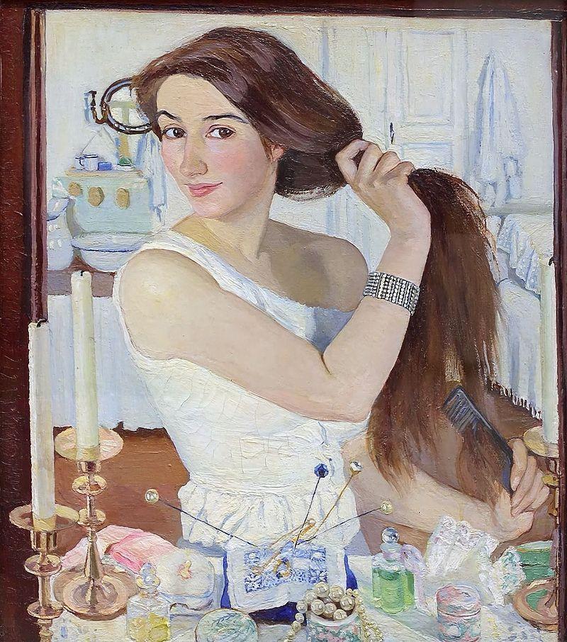 Зинаида Серебрякова. Автопортрет.