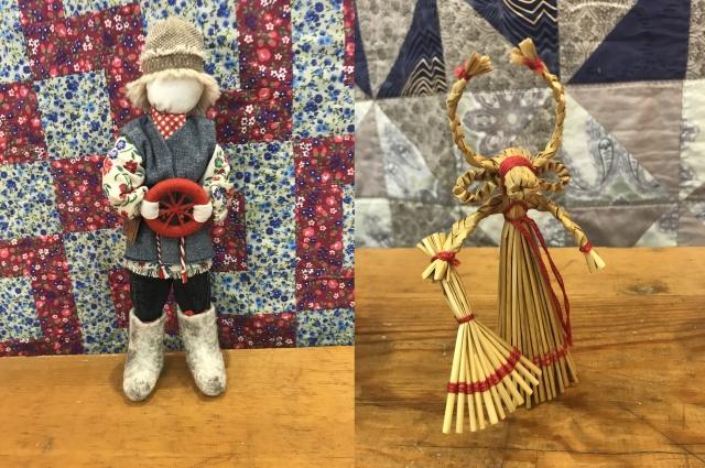 Спиридон-солнцеворот создаётся женщиной на лучшие изменения в жизни мужа, а Рождественская Коза приносит в дом смех и веселье.