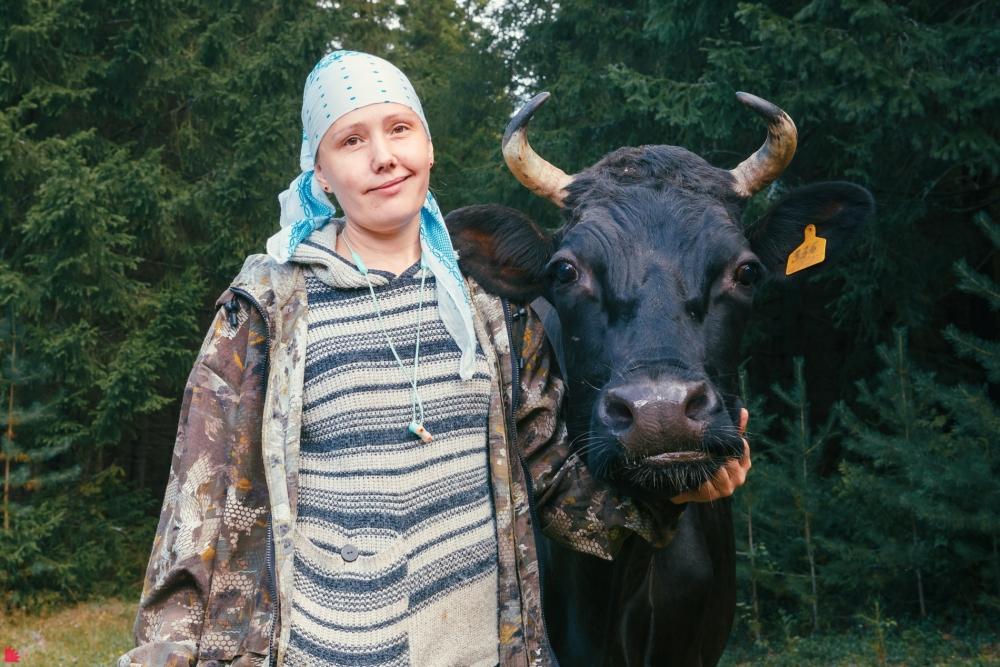 Ольга Селиванова любит своих коров, но всё же относится к ним как животным сельского назначения.