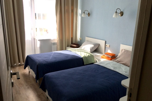 Спокойные приглушённые тона помогают гостям отдыхать в своих номерах.