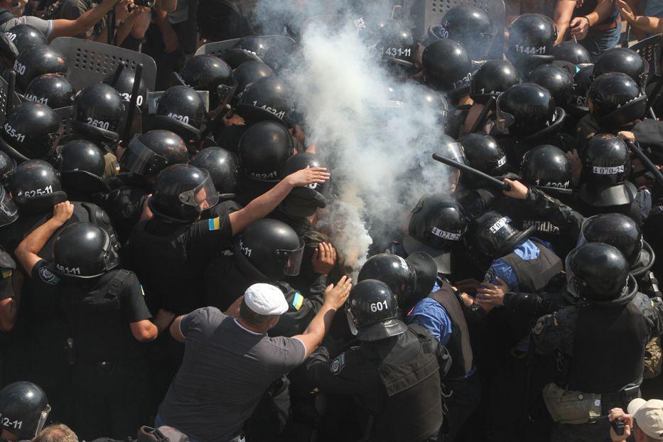 Беспорядки у Верховной Рады Украины