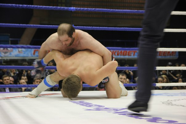 Михаил Газаев на ринге.