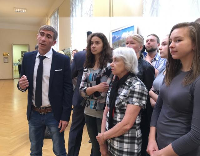 На выставке в Псковском музее-заповеднике.
