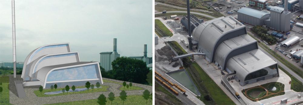 Мусоросжигательный завод в Великобритании.