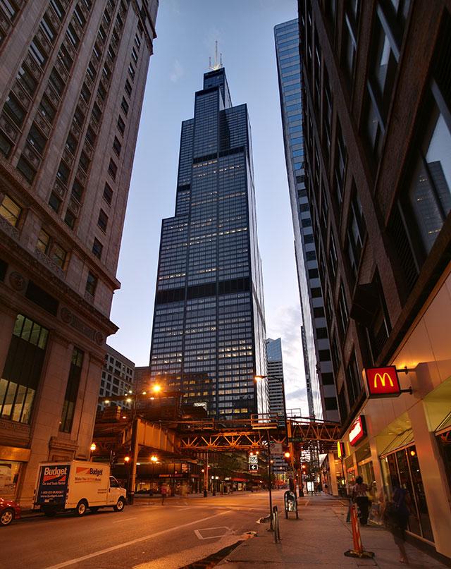 Уиллис-тауэр в Чикаго.