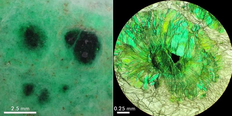 В помощью электронной микроскопии учёные исследовали минерал.