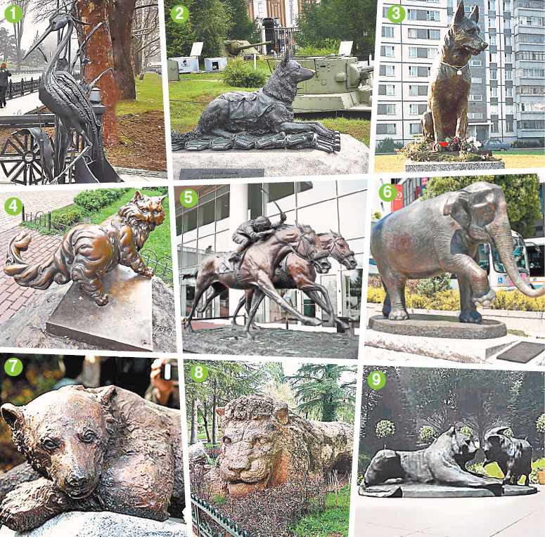 За какие заслуги животным ставят памятники?