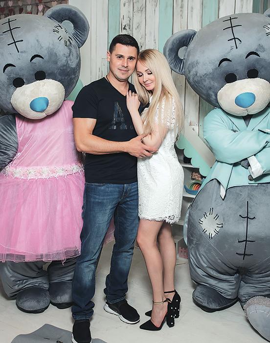 Дарья Пынзарь с мужем.