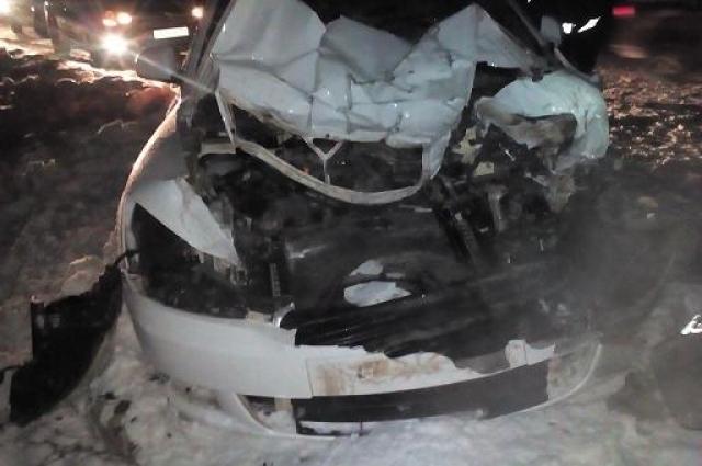 Водитель и пассажир иномарки попали в больницу с различными травмами.