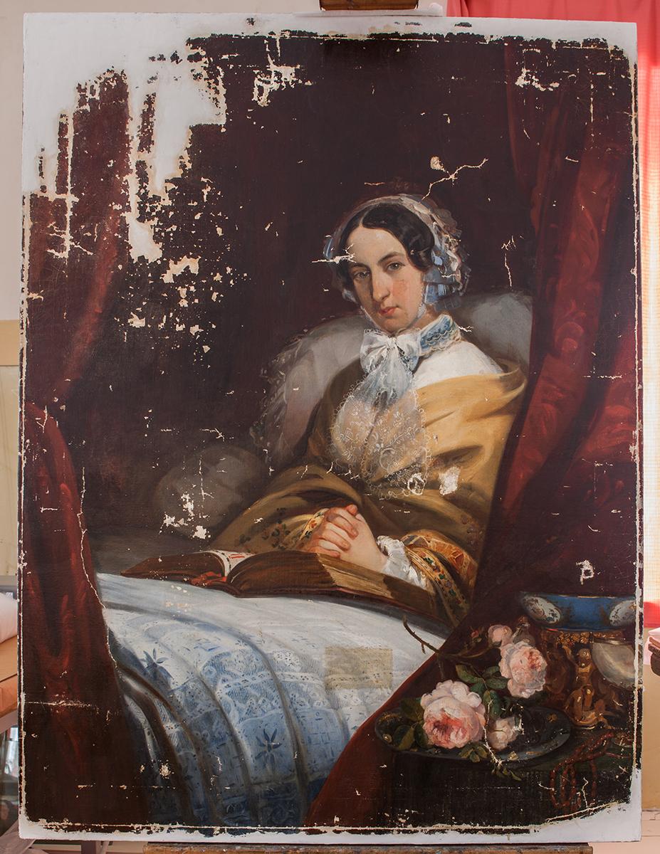 портрет, живопись, реставрация, портрет княгини Куракиной