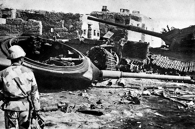 Уничтоженные израильские танки. Война судного дня.