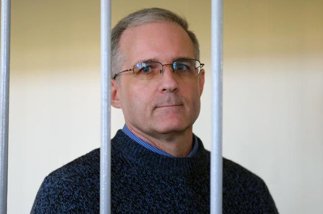 Гражданин США Пол Уилан в Лефортовском суде Москвы, обвиняемый в шпионаже против РФ, во время рассмотрения ходатайства следствия о продлении срока ареста.