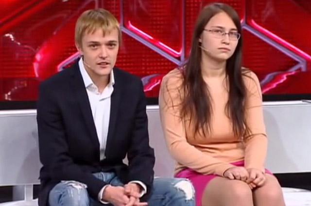Сын Сергея Зверева со своей девушкой на шоу Прямой эфир с Б. Корчевниковым