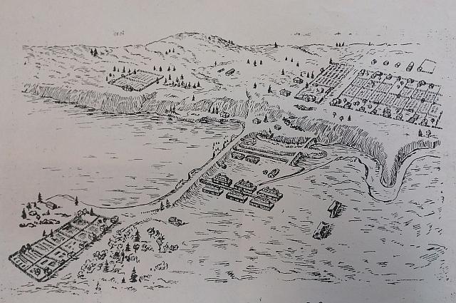 План Ижевска 1764 года.
