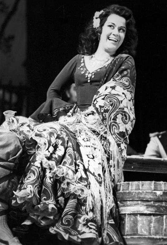 Елена Образцова в роли Кармен, 1975 г.