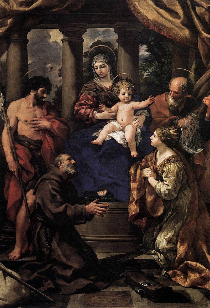 Пьетро да Кортона. Мадонна с Младенцем и святыми.