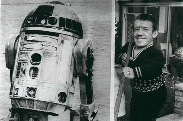Кенни Бейкер и R2-D2.