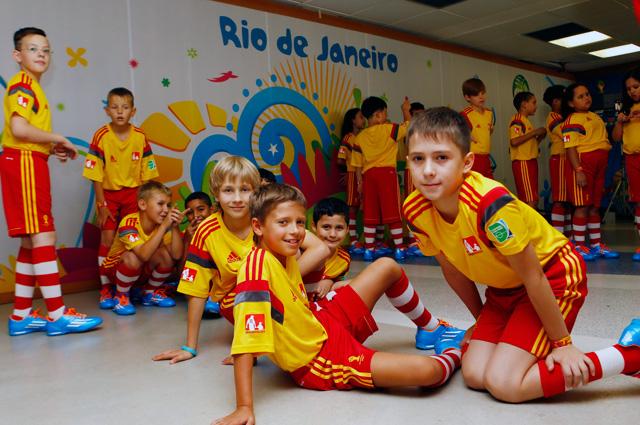 Россия-Бельгия. Подтрибунное помещение - перед матчем