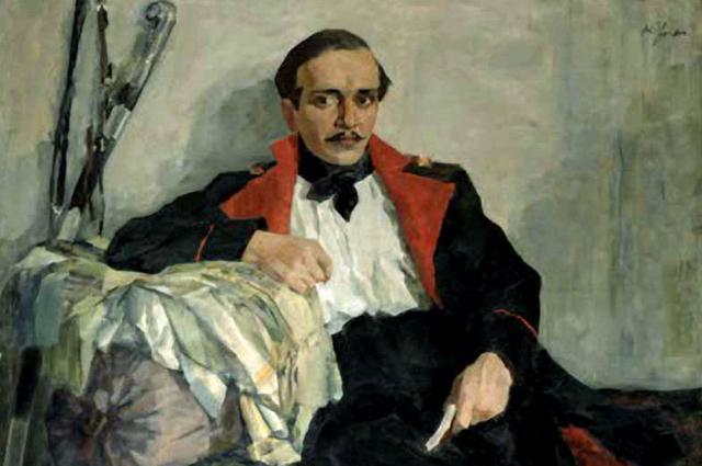 Картина Николая Ульянова «Портрет Михаила Лермонтова», 1930 год