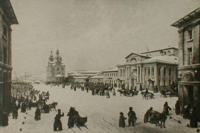 Здание Благородного собрания в Охотном ряду. 1840-е гг.