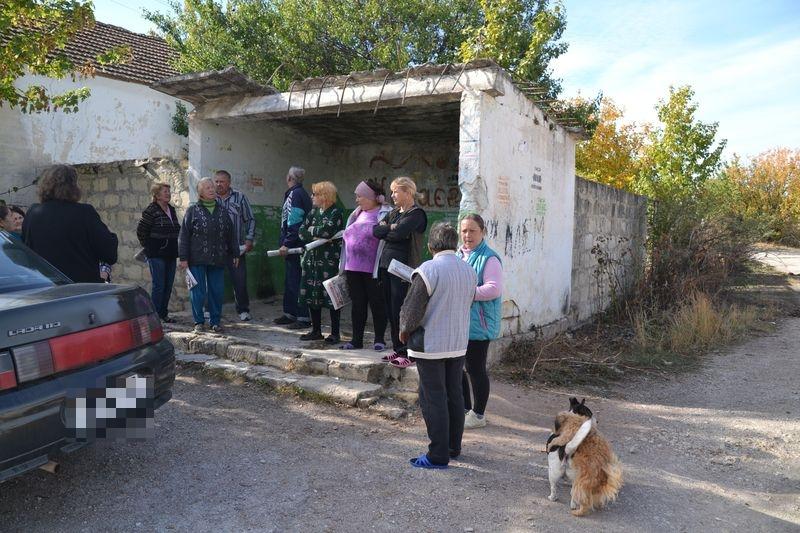Остановка в селе Карасевка.