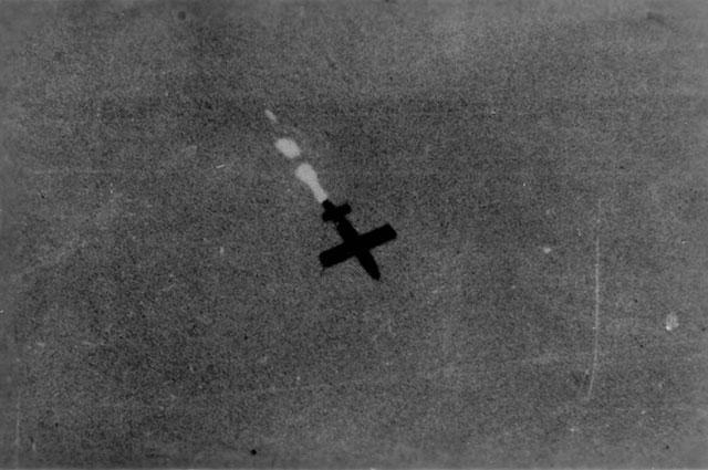 «Фау-1» в небе над Голландией.