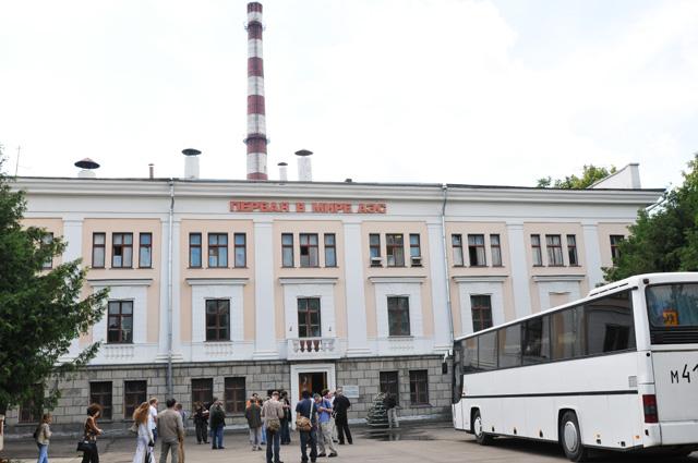 Здание, в котором расположен реактор Обнинской АЭС - первой в мире АЭС. В 2002 году АЭС выведена из строя, в настоящее время в ней расположен музей атомной энергетики.