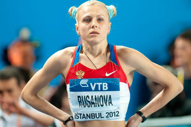 Юлия Степанова (тогда ещё Русанова) в 2012 г.