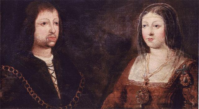 Фердинанд и его жена Изабелла после свадьбы.