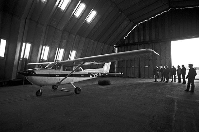 Спортивный самолет «Сессна», на котором Матиас Руст пересек границу СССР 28мая 1987 году иприземлился наКрасной площади.