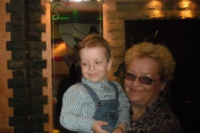 Маргариты Кац со своим внуком Иваном.