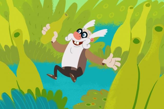 Кадр из мультфильма «И вот плывёт воздушный слон», реж. Алексей Галкин.